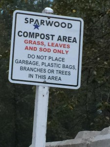 sparwood compost sign