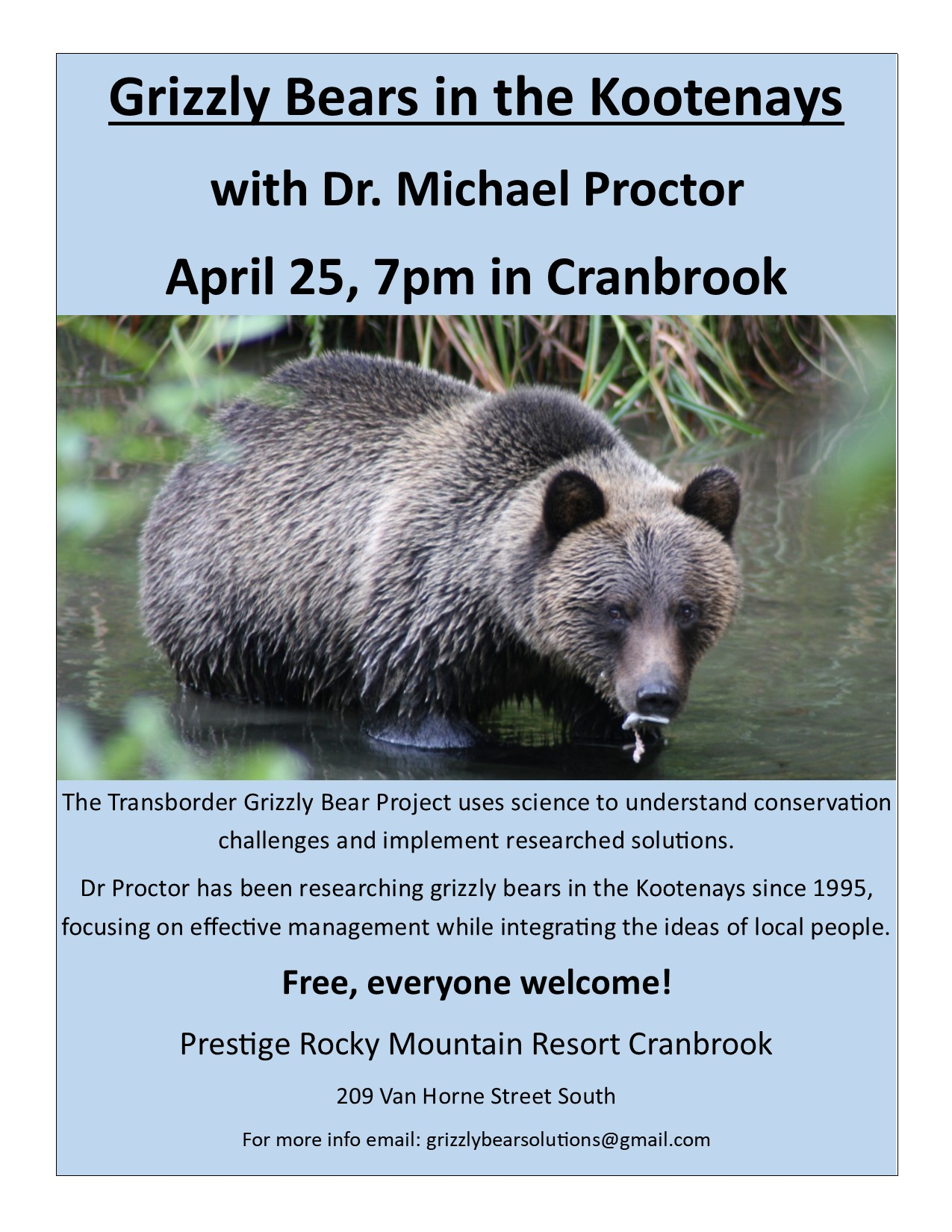 Grizzly Bears in the Kootenays Cranbrook Apr 25-1